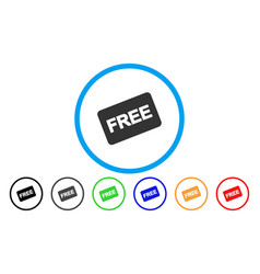 Free card rounded icon vector