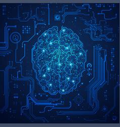Futuristic brain vector