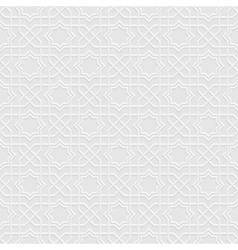 Grey seamless pattern in arabian style vector