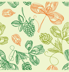 Happy saint patricks day seamless pattern vector