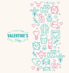 happy valentines day decorative postcard vector image