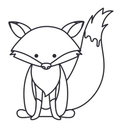 Isolated fox cartoon design vector