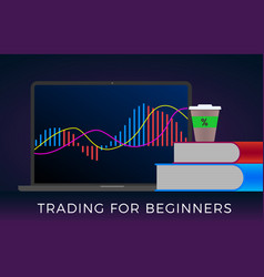 Learn trading for beginners forex stock crypto vector