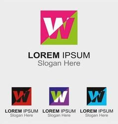 Letter W logo design sample icon vector