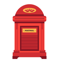 Letterbox or mailbox isolated icon post office vector