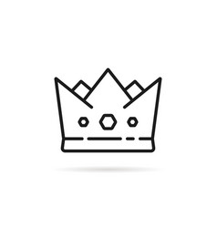 linear minimal crown icon with shadow vector image