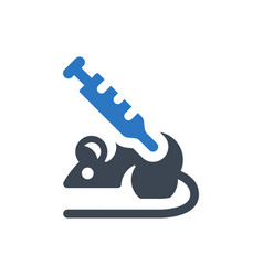mice experiment icon vector image