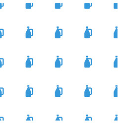 Milk can icon pattern seamless white background vector