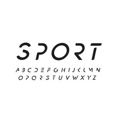 modern font design in minimal style simple vector image