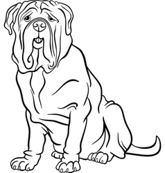 neapolitan mastiff dog cartoon for coloring vector image