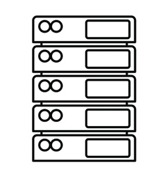 network server isolated icon design vector image