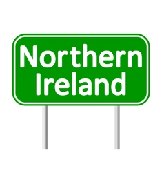 Northern Ireland road sign vector