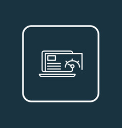 Page speed icon line symbol premium quality vector