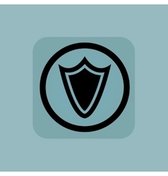 Pale blue shield sign vector