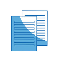 Paper document file school supply icon vector