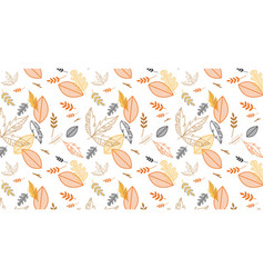 Pattern banner with hand drawn elegant autumn vector