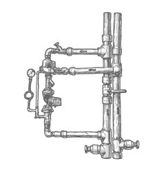 piping system vector image