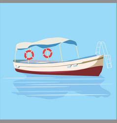 pleasure boat rest travel vector image