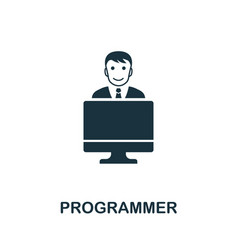 Programmer icon creative element design from vector