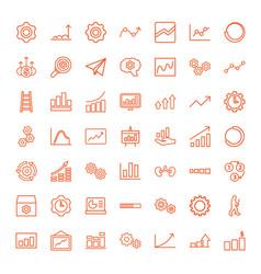 progress icons vector image