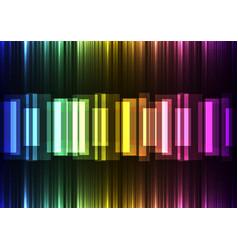 rainbow speed bar overlap in dark background vector image