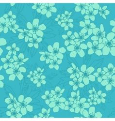 Ranunculus acris seamless pattern vector