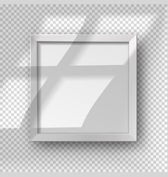realistic square empty picture frame with window vector image