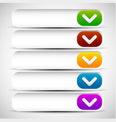 rounded drop down button templates vector image