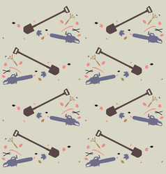 seamless pattern for garden tools store vector image