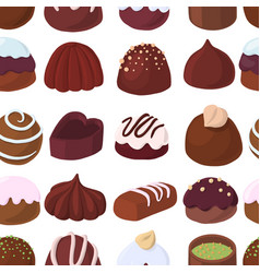 seamless pattern with chocolate candies vector image