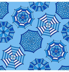 Seamless Pattern with Umbrellas vector