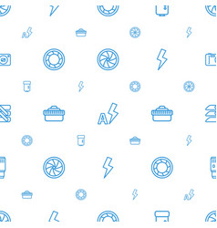 Shutter icons pattern seamless white background vector