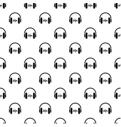 sound in headphones icon simple style vector image