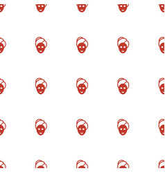 Spa mask icon pattern seamless white background vector