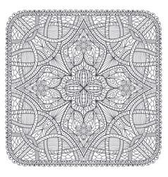 square ornamental map mandala like decoration vector image