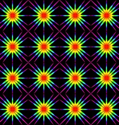 The geometric pattern of stars vector image