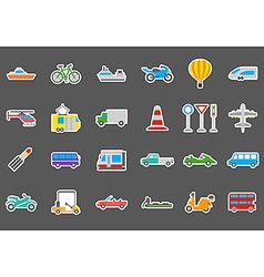 Transport stickers set vector image