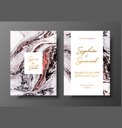 wedding template with liquid marble texture for vector image