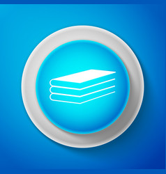 white books icon isolated on blue background vector image