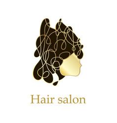woman head logo design template vector image