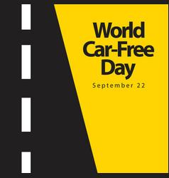 World car free day logo template design vector