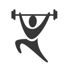 black silhouette pictogram man weightlifting icon vector image vector image
