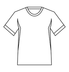 Men tennis t-shirt icon outline style vector image