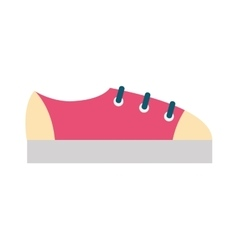 Red womens sneakers fashion sport casual shoes vector image