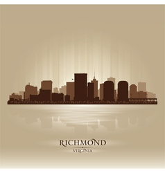 Richmond Virginia skyline city silhouette vector image