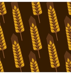 Seamless pattern with ripe golden wheat ears vector image vector image