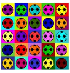 Warhol footballs vector image vector image