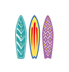 with 3 surf vector image vector image