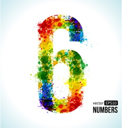 Color paint splashes Gradient Number 6 vector image vector image