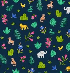 Jungle wildlife pattern vector image vector image